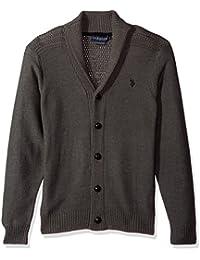 Men's Reverse Jersey Shawl Collar Cardigan