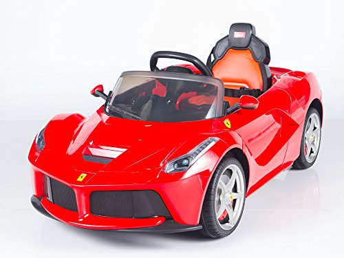 newest sport edition ferrari style 12v ride car for kids boys and girls with music lights and remote control