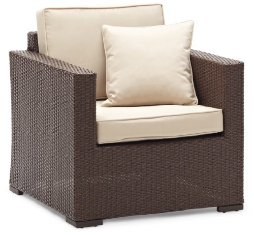 Strathwood Griffen All-Weather Wicker Chair, Dark Brown