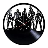 Everyday Arts Justice Legion Superheroes Design Vinyl Record Wall Clock - Get Unique Bedroom or Garage Wall Decor - Gift Ideas for Friends, Brother - Darth Vader Unique Modern Art