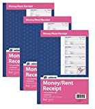 Adams Money and Rent Receipt Book, 3-Part, Carbonless, White/Canary/Pink,7 5/8'' x 10 7/8'', 100 Sets per Book, Pack Of 3