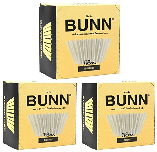 3-Pack BUNN 100-Count Basket Filter ,White ,3 Pack