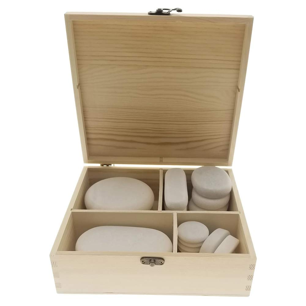 Royal Massage  20pc Massage Marble Cold Stone Therapy Set with Bamboo Case by Royal Massage (Image #3)