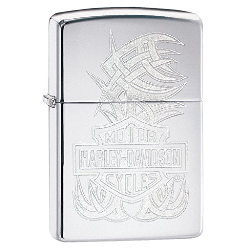 Zippo Harley-Davidson bar & Shield High Polish Chrome Pocket Lighter