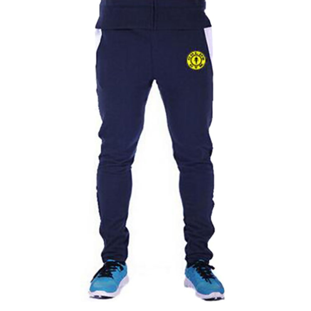 HUASHI Men's Pro Fitness Sports Pants,Black With Navy Mark,3XL by HUASHI