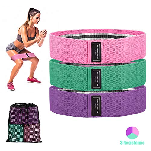 TAIKBA Resistance Bands Loop Exercise Bands Booty Bands, Workout Bands Hip Bands Wide Resistance Bands Resistance Band for Legs and Butt, Activate Glutes Thigh - 3 Color Resistance Level
