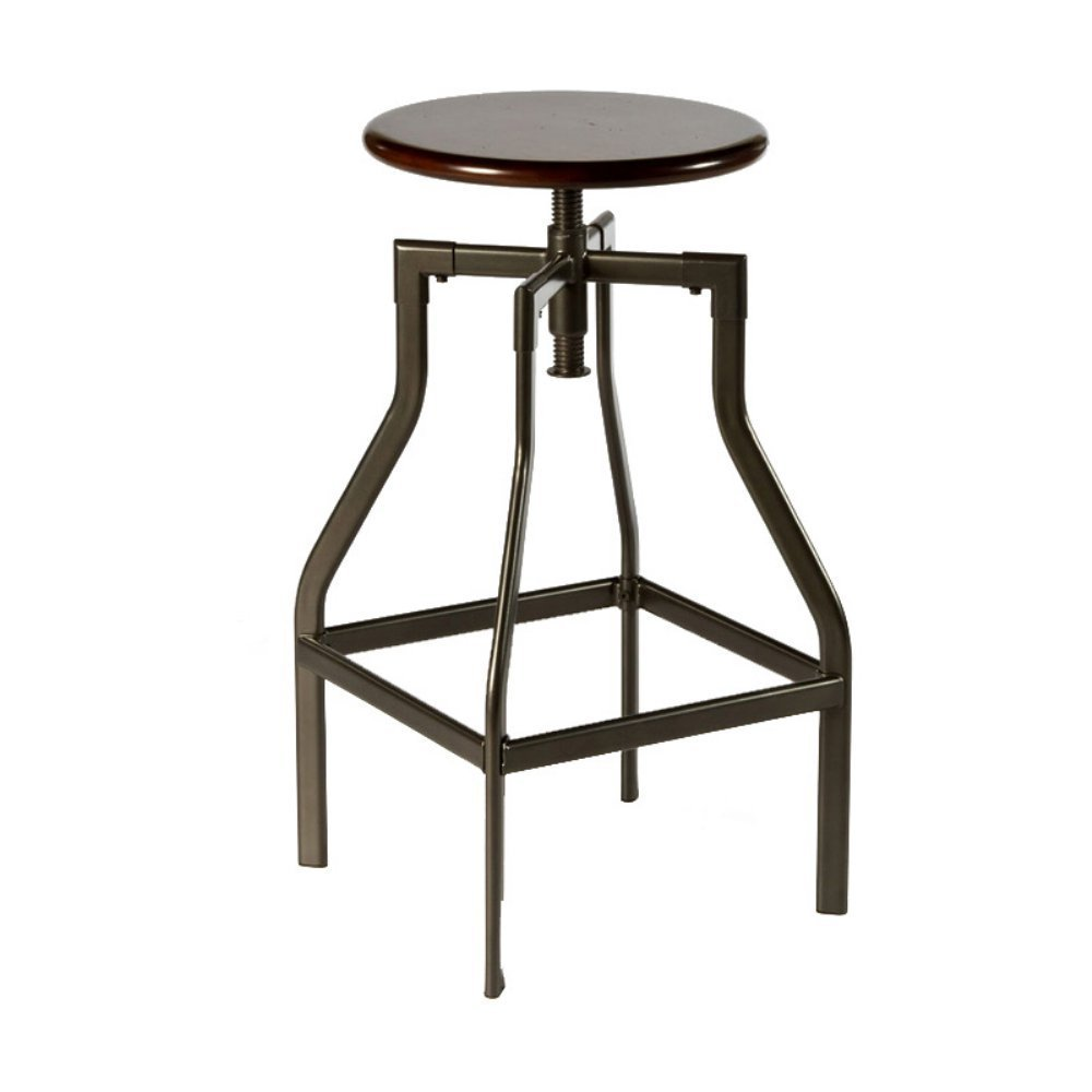 Hillsdale Furniture Cyprus Stool, Pewter Distressed Cherry