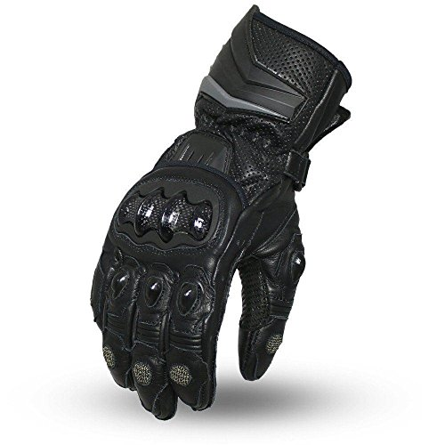 Firstgear Street Bike - Firstgear Men's Motorcycle Waterproof Knuckle Kevlar Reinforced Black Leather Gloves (2XL Regular)
