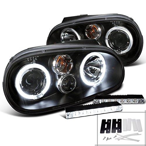 Golf Black Projector Headlight Bumper