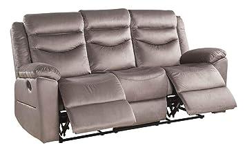 Amazon.com: ACME Furniture 53665 Fiacre Sofa, Brown Velvet ...