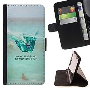 - Good Luck Lucky - - Monedero PU titular de la tarjeta de cr?dito de cuero cubierta de la caja de la bolsa FOR HTC DESIRE 816 Retro Candy