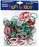 Fun Loops Bandz 300 Christmas Rubber Loom Bands with 12 'S' Clips