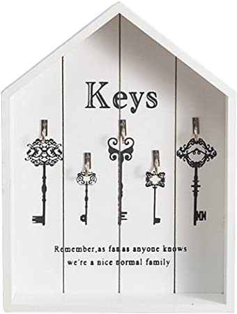 margueras 1pcs caja armario para llaves pared – almacenaje de las llaves de madera: Amazon.es: Hogar