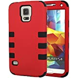 For Samsung Galaxy S5 i9600 Case Cover YCAun® Hard Plastic Snap on with Soft Silicone Gel Hybrid Shockproof High...