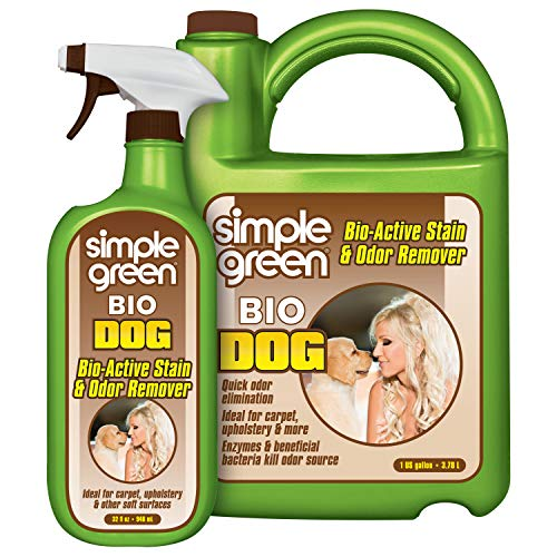 Simple Green Bio Dog Active Stain & Odor Remover – Enzyme Cleaner & Stain Remover for Carpet, Rugs & Fabric – eliminates…