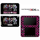 Monster High Ghoul Hot Pink Skull Decorative Video Game Decal Cover Skin Protector for Nintendo 3DS XL