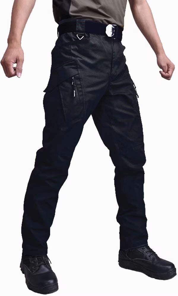 KEFITEVD Cargo Pants Men Outdoor Tactical Military Pants Lightweight Ripstop Hiking Pants with Multi-Pockets