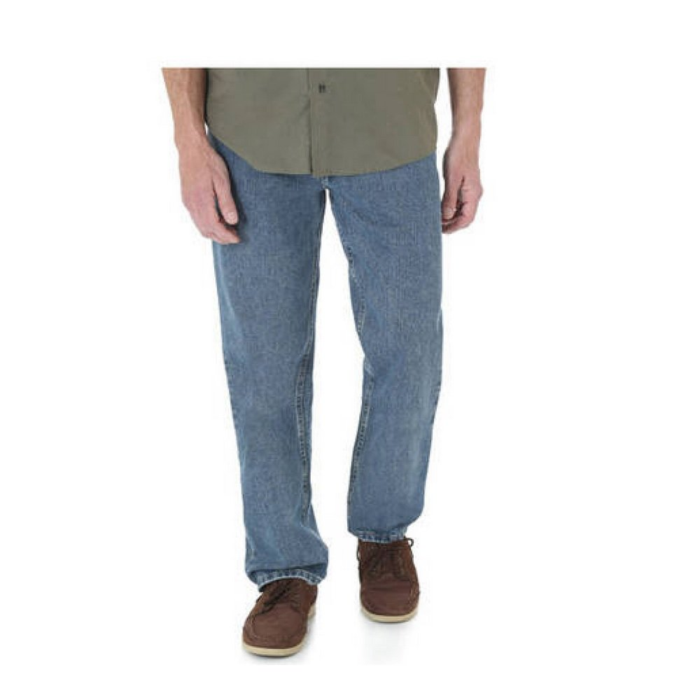 86cf58bc Wrangler Big & Tall Men's Relaxed Fit Five Star Premium Denim Jeans (60X30,  Vintage Wash) at Amazon Men's Clothing store: