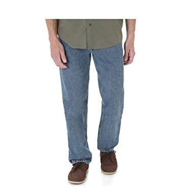 b21cf580 Wrangler Big & Tall Men's Relaxed Fit Five Star Premium Denim Jeans (60X30,  Vintage Wash) at Amazon Men's Clothing store: