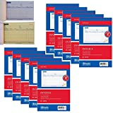 10 Carbonless Invoice Receipt Record Book 2 Part 50 Sets Duplicate Receipt Copy