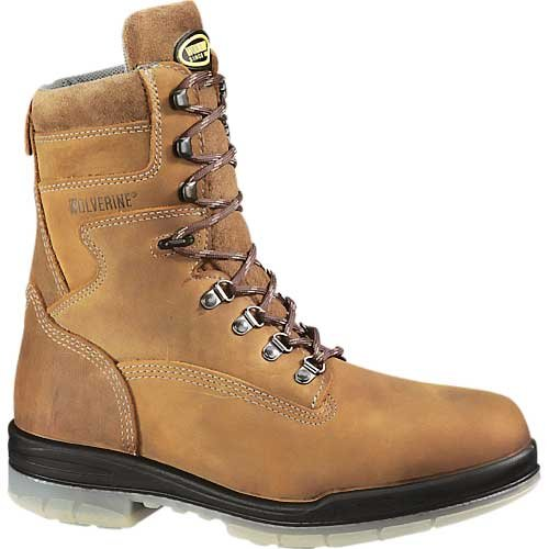 Wolverine Men's DuraShocks Wp Insulated St Eh 8 Inch Stone Leatherboots 7 3E US (Wolverine Fiberglass Boot)