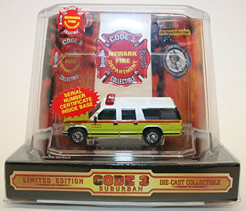 Code 3 Suburban Limited Edition Newark Fire Department Collectible