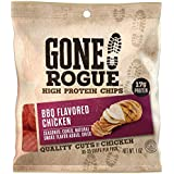Gone Rogue High Protein BBQ Chicken Chips | Low Carb, Gluten Free Snacks | 4 pack