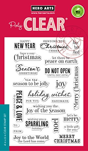 Hero Arts CM100 Christmas Messages Card Making Kit (Card For Christmas Making Kits)