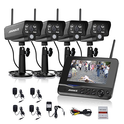 4 Channel Security Monitor Weatherproof Detection