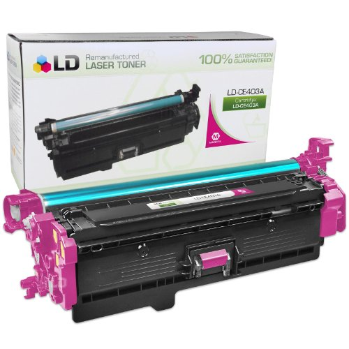 LD © Remanufactured Replacement for HP CE403A / 507A Magenta Laser Toner Cartridge for HP LaserJet Enterprise 500 Color M551dn, M551n, M551xh, MFP M575dn, MFP M575f, and MFP M575c