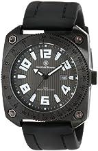 Smith & Wesson Men's SWW-5900 Flight Deck Black Rubber Strap Watch