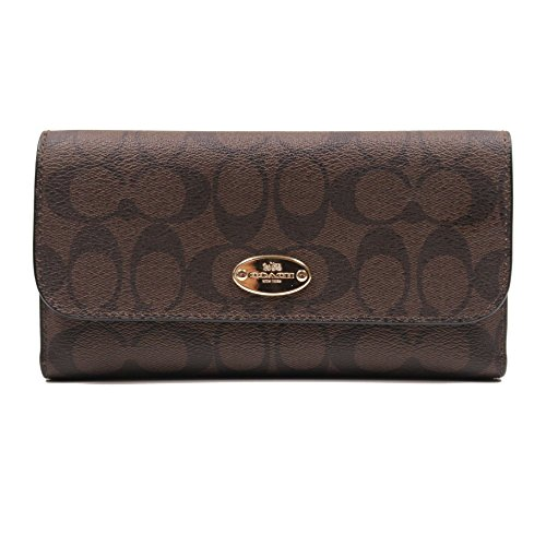 Coach Signature Checkbook Wallet F52681