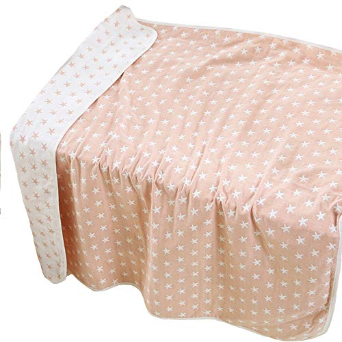 Lightweight/Portable Baby Ultra Soft Crib/Bed Quilt Blanket All Weather for Babies Or Toddler,Organic Muslin Cotton Quilts/Blankets Elephant