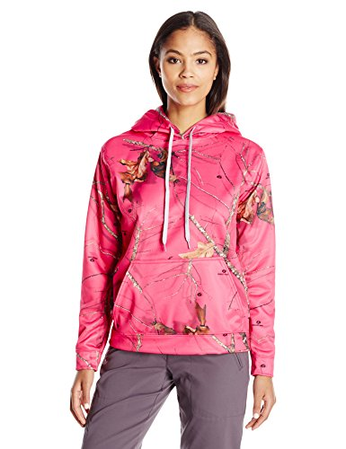 (Mossy Oak Women's Poly Hoodie, Camouflage, Medium)