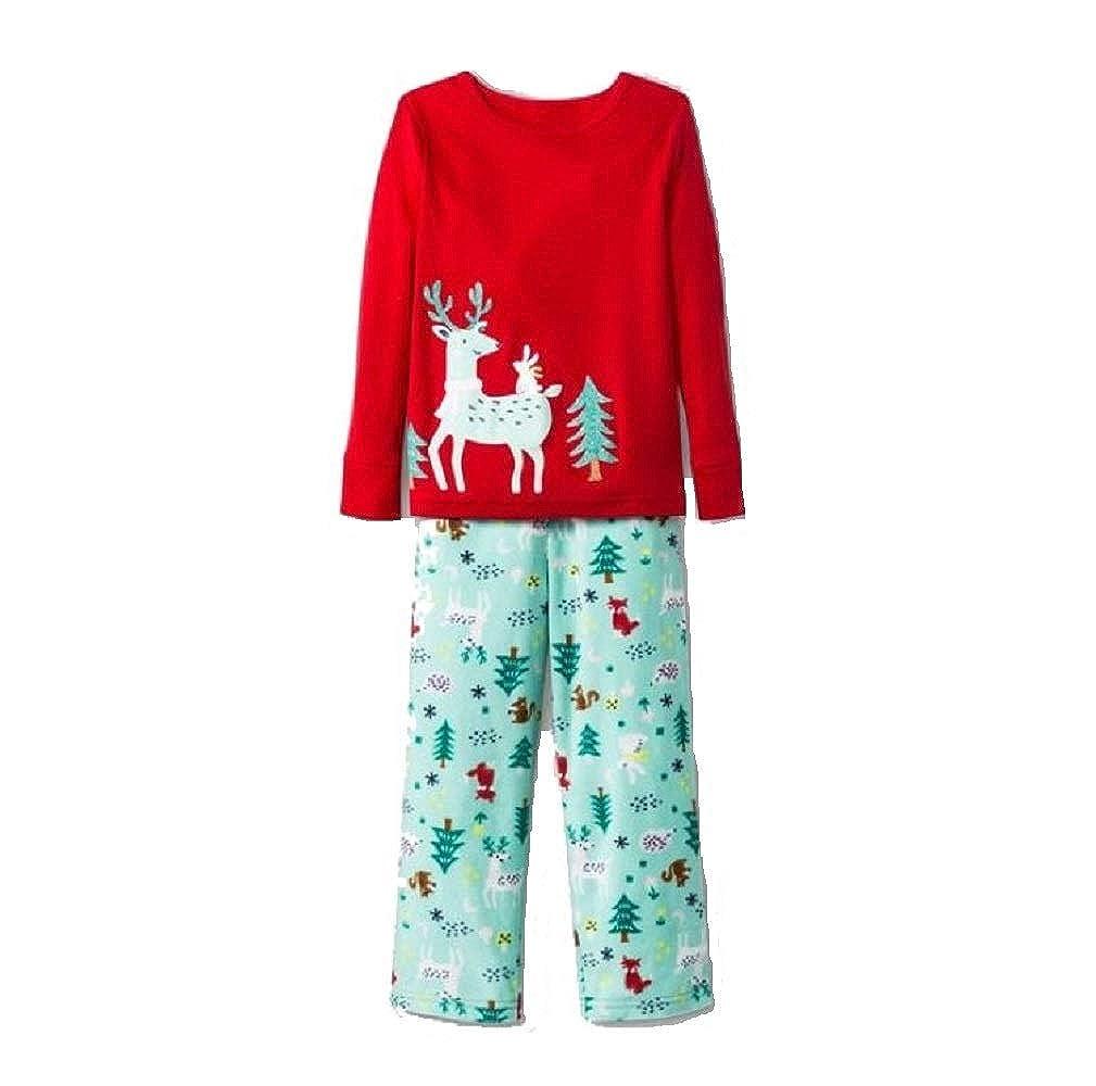 Cat /& Jack Girls 2pc Reindeer Pajama Set
