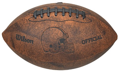NFL Cleveland Browns Vintage Throwback Football, 9-Inches