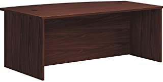 "product image for HON Foundation Laminate Bowfront Desk Shell, 72"" x 42"", Mahogany"