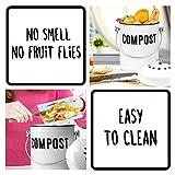 Granrosi Stylish Farmhouse Kitchen Compost Bin