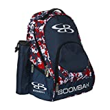 Boombah Tyro Baseball / Softball Bat Backpack - 20' x 15' x 10' - Camo Navy/Red - Holds 2 Bats up to Barrel Size of 2-5/8'
