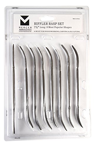 "Mercer Industries BCRIFS Riffle Rasp Set, 7-1/2"", 8-Piece"