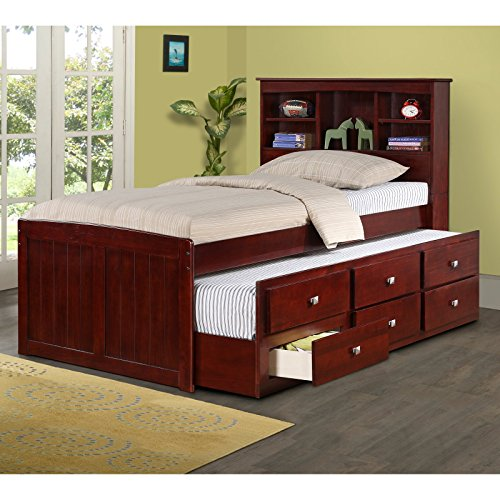 Twin bookcase captains bed dark cappucino best deals toys Best deal on twin mattress