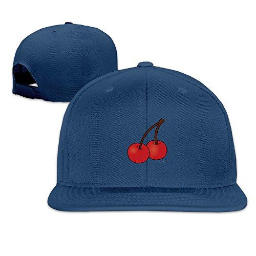 Cartoon Fresh Fruit Cherry Adjustable Baseball Hip Hop Unisex Hat Navy