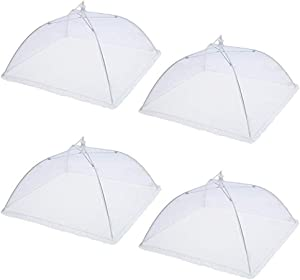 Food Cover Tent, Collapsible Food Mesh Protectors Net Food Umbrella Pop-up Mesh Screen Food Cover for Outdoors Parties Picnics BBQs Keep Out Flies Bugs Mosquitoes (12
