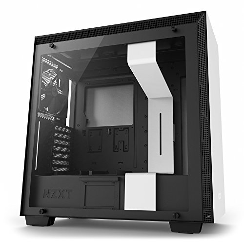 System Water External Cooling - NZXT H700 Desktop Computer Case, CA-H700B-W1, White/Black
