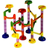 dazzling toys Marble Run Race Coaster Long Lasting 58 Piece Set with 43 Building Blocks Plus 15 Race Marbles Improving Your Child's Motor Skills And Brain Function