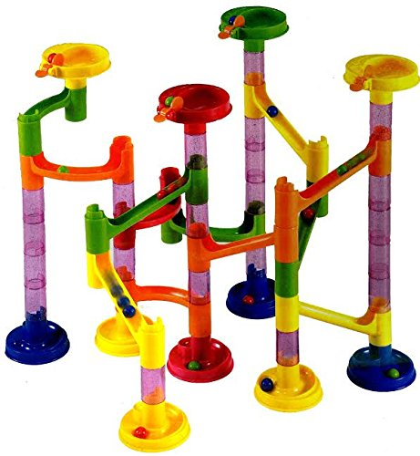 ter Long Lasting 58 Piece Set with 43 Building Blocks Plus 15 Race Marbles Improving Your Child's Motor Skills And Brain Function by dazzling toys (58 Piece Set)