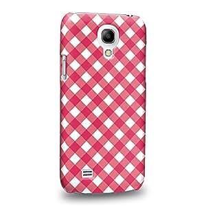 Case88 Premium Designs Art Pink Checker Dot Pattern Carcasa/Funda dura para el Samsung Galaxy S4 mini (No Normal S4 !)