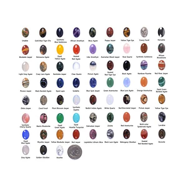 Wholesale Lot 24pcs Multi-color 25mm Gemstone Oval Cab Cabochon For Jewelry Making