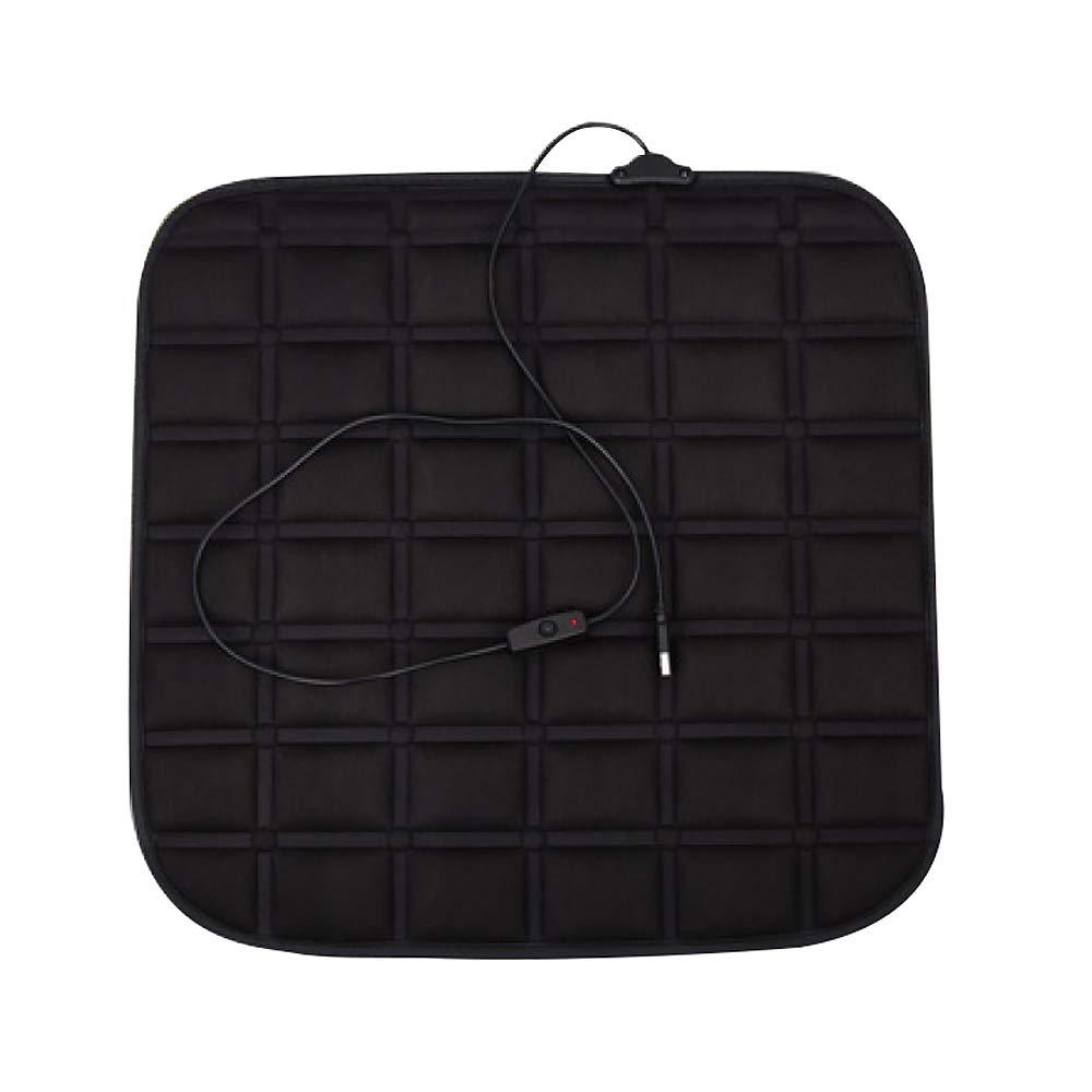 JXHD Car Heated Seat Cushion/Heating Pad - Usb Car/Office / Home Seat Sofa Warm Pad, Black