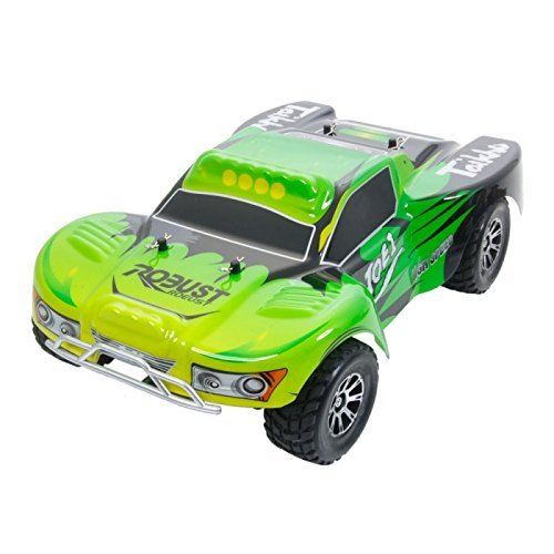 RC Cars - Wltoys A969 Vortex 1/18 2.4G 4WD Electric RC Car Short Course Truck RTR Green